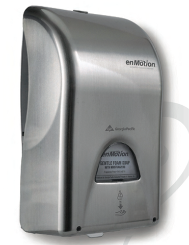 Georgia Pacific EnMotion Hands Free Stainless Steel Soap Dispenser