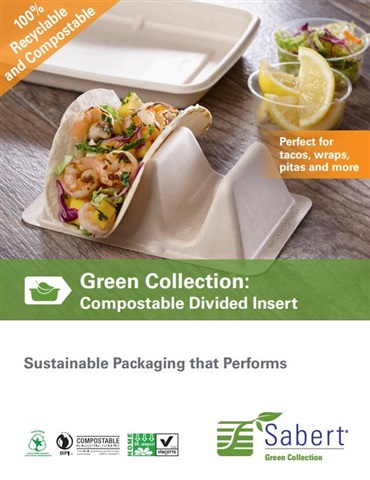 Compostable Divided Insert | by Sabert