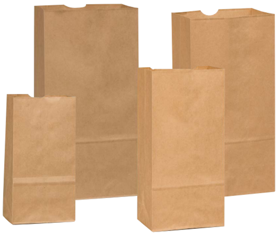 Kraft & White Paper Grocery Bags by Duro Bag