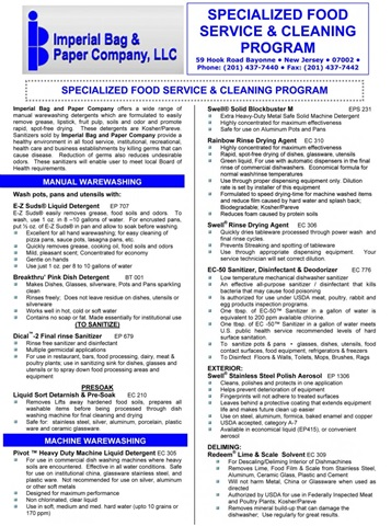 IB&P Cleaning System With Epic Chemicals