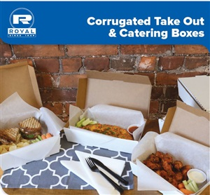 Corrugated Catering Takeout Boxes by Royal Packaging