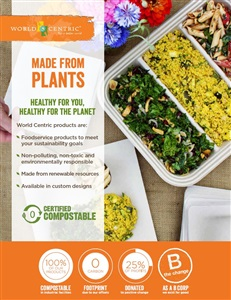 Plant fiber takeout containers, fiber plates, fiber bowls & fiber Catering trays | by World Centric